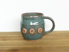 Stoneware Pottery Mug in Sea Mist Ceramic Coffee by dorothydomingo