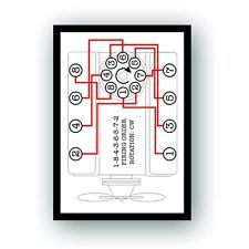 Firing Order Decal Reproduction for Vintage Chevy Chevrolet Small Big Block Camaro Chevelle Nova 267 283 302 305 327 350 427 396 454 034 Chevy 350 Engine, Car Engine, Pontiac 400, Chevy Motors, Engine Rebuild, Chevy Chevrolet, Us Cars, Chevy Trucks, Car Parts