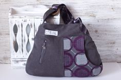 A new Cul de Sac pattern! all made from upcycled materials.