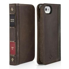 Upgrade your man's style with the BookBook All-in-One vintage case for iPhone.  On the surface, the BookBook is a sophisticated looking leather case for the iPhone.  Inside it's a wallet with slots for his credit cards, cash and photo ID with custom cutouts for his iPhone camera.  $59.99