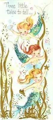 vintage mermaid card