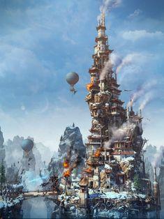 Steam Mage Tower by Alex04Se