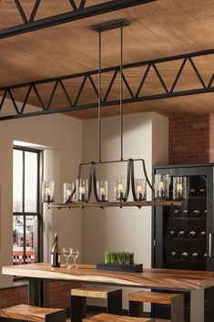 Shop For The Feiss Distressed Weathered Oak / Slated Grey Metal Angelo 8  Light Wide Chandelier And Save.