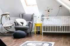 room, kids, baby, child, black, white, yellow, monochromatic, scand