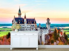 castle wall mural wall mural nature bavaria mural by 4KdesignWall