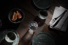 Rustic Industrial, Natural Stones, Dinner, Eat, Tableware, Galleries, Behance, Shop, Dinner Sets