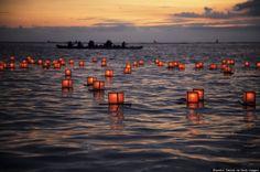 13. Annual lantern floating memorial ceremony, Ala Moana Beach, Oahu