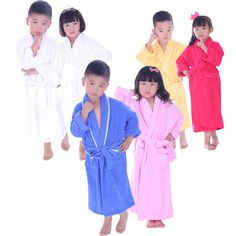 Cotton Robe Solid Kids Child Youth Towel Bathrobes Comfort Wear New High  Quality  MMY 3eae2b1bd