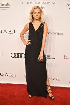 Viktoriya Sasonkina attends 15th Annual Elton John AIDS Foundation An Enduring Vision Benefit at Cipriani Wall Street on November 2, 2016 in New York City in her Serena Whitehaven shoes.