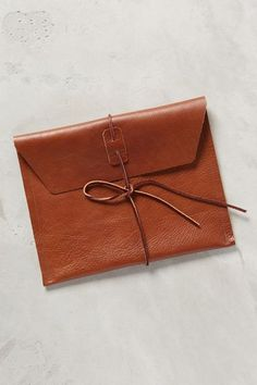 Tied Envelope Clutch #anthrofave ~ETS #leatherclutch