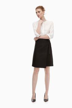 Falda brocada de corte asimétrico - faldas | Adolfo Dominguez shop online