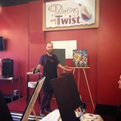 Painting with a Twist is now open off the Square! Perfect date night location for something different. #WDDI