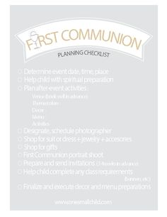 A Prayer for First Holy Communion: Free Printable