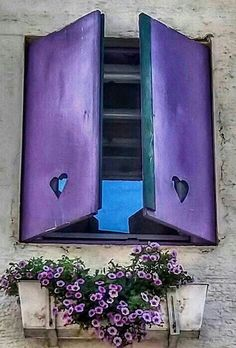 Purple Heart Window Decor - Pantone Color of 2018 Purple