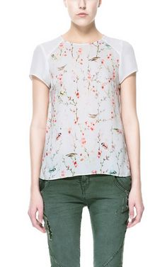 ORIENTAL PRINT COMBINATION TOP from Zara - so pretty...