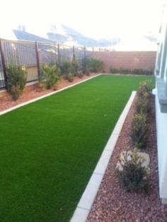 Artificial Turf & Concrete Border - Cacti Landscapes Las Vegas Landscaping iDeas Crafts For Kids ? Desert Backyard, No Grass Backyard, Small Backyard Landscaping, Backyard Garden Design, Modern Landscaping, Backyard Ideas, Garden Ideas, Astro Turf Garden, Garden Turf