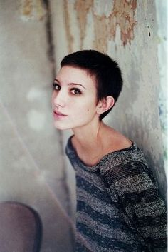 pixie cut micro fringe - Google Search