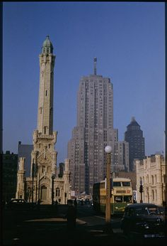 Old water tower and Palmolive Bldg. | Flickr - Photo Sharing!