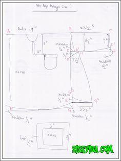 Syira Qahira: Pola Baju Melayu Paling Senang Dan Mudah Tutorial Sewing, Shirt Tutorial, Sewing Tutorials, Sewing Projects, Sewing Patterns, Sewing Men, Sewing Clothes, Gents Shirts, Sewing Class