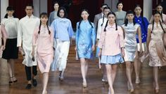 Many collections in Beijing Fashion Week's opening days gave a nod to the qipao, Mao suit and imperial styles, albeit with modern twists and some romantic flair, as if designers were working in another era