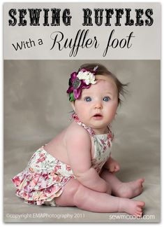 Make sewing ruffles easier! Sewing with a ruffler foot attachment by sewmccool.com