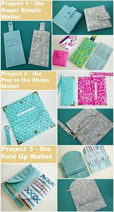 Sewing Wallets: Step by Step. Craftsy class with 3 different wallet sewing projects. Even beginners can get great results with these easy patterns and helpful tips.