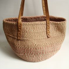 woven straw bag / sisal bag / southwestern by OldBaltimoreVintage