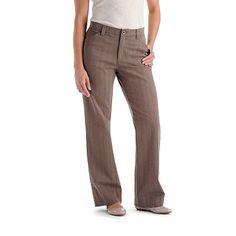 $36.99 Lee Comfort Waist Striped Twill Straight-Leg Pants