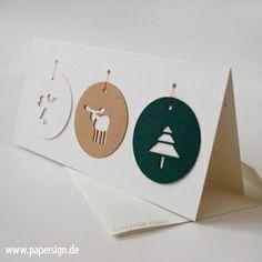 weihnachtskarte TAGS ° mit weihnachtsanhängern von PAPERSIGN auf DaWanda.com