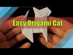 43 trendy origami easy step by step cat Easy Cat Origami, Origami Mouse, Origami Star Box, Money Origami, Origami Fish, How To Make Origami, Simple Origami, Origami Instructions, Origami Tutorial
