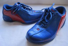 DADA Supreme Mens Size 7 Blue Red Faux Leather Basketball Sneakers Shoes  0309YY 15d08a6a72d