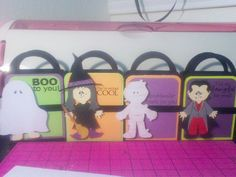 Halloween treat bags set of 4 by PurplePaperEater on Etsy, $8.00