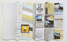 Kinsey Wilson's FAB San Francisco Memory File project for Studio Calico. Love this!