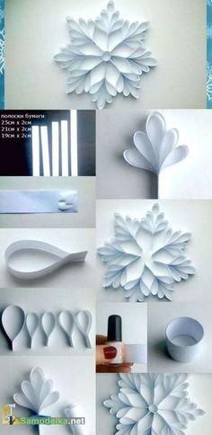 DIY | Des décorations de Noel en papier! 15 idées pour vous inspirer… #artsandcraftsstores,