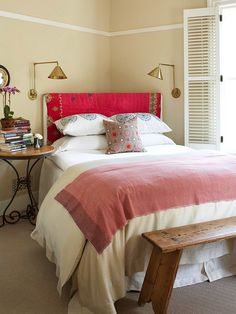 Putting your bed in a different direction can make the whole room feel different! More bedroom ideas: http://www.bhg.com/decorating/budget-decorating/cheap/low-cost-bedroom-updates/?socsrc=bhgpin010914newbedroom&page=11