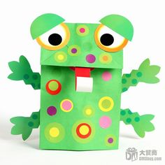 Frog puppet to make for Em :)