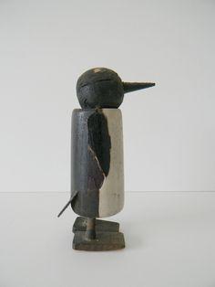 Depression Era Wooden Penguin Ramp Walker