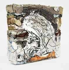 jonathan mess Landfill Central Cross Section, Various clays, glazes, and stains; Cross Section, Ceramic Materials, Abstract Sculpture, Ceramic Sculptures, Contemporary Ceramics, Ceramic Artists, Porcelain Ceramics, Painting On Wood, Pottery