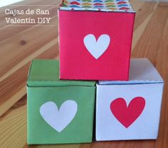 Cajas de papel para San Valentín