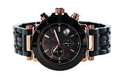 Miesten Gc-1 Sport -kello, 320 €. Sveitsiläinen kronografi rannekello. Terästä, musta ja punakulta PVD, hiilikuitutaulu, 100m. Norm. 675 €. Gc Boutique, 1. krs.