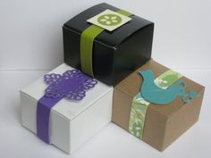 50 Wedding Favor Boxes party favor boxes small gift box by Rosmina, $18.00