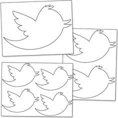 Printable Twitter Bird from PrintableTreats.com