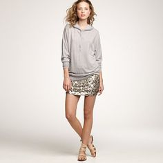 I have wanted a sequined mini skirt like this forever. This one happens to be adorable, and also happens to be $350