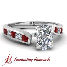 STYLE / Cushion Cut With alternating Round Cut Rubies and Diamonds by petitedress