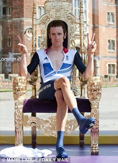 Bradley Wiggins, 'It's a reward for the months of training, sleeping in an oxygen tent in the spare room, weeks away from my family and the sacrifices they have made.' Winning gold in the time trials 10 days after winning the Tour de France.