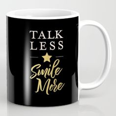 Talk Less, Smile More Mug - $15 ⋆ Gifts for Hamilton Fans!