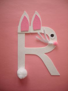preschool art rabbit letter art | Play and Learn with Dana: Letter R Rabbit