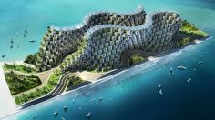 Devastated by a massive earthquake in 2010, Haiti is in desperate need of rebuilding. This utopian ... / Credits: Vincent Callebaut
