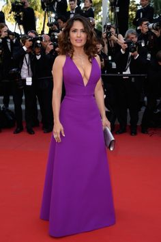 "CANNES, FRANCE - MAY 17:  Actress Salma Hayek attends the Premiere of ""Rocco And His Brothers"" during the 68th annual Cannes Film Festival on May 17, 2015 in Cannes, France.  (Photo by Pascal Le Segretain/Getty Images)"