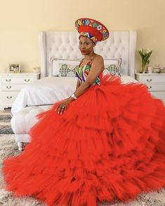 Traditional Zulu outfit Zulu Traditional Wedding Dresses, Zulu Traditional Attire, South African Traditional Dresses, Traditional Gowns, African Wedding Theme, African Wedding Dress, African Evening Dresses, African Dress, African Fashion Skirts